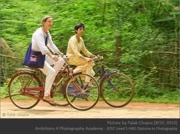 Women on bicycle