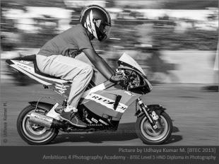 Racer on his bike