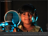 Child in the recording studio